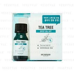 Skinfood -  Tea Tree Spot Oil Kit : Tea Tree Oil + Cotton