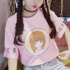 Cerauno - 卡通印花短袖T恤