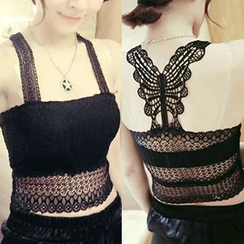 QZ Lady - Lace Cropped Camisole