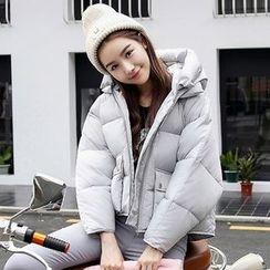 Rosehedge - Plain Hooded Padded Coat