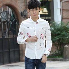 NINETTE - Long-Sleeve Floral Shirt