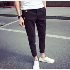 Bestrooy - Cropped Slim Fit Pants