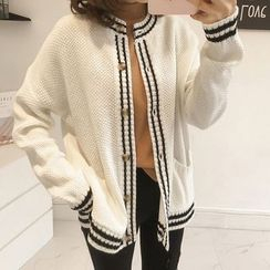 Little V - Striped Cardigan