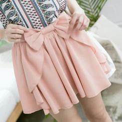東京著衣 - 蝴蝶結裙褲