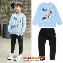 BILLY JEAN - Boys Set: Graphic Sweatshirt + Cotton Sweatpants