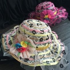 EVEN - Kids Rosette Mesh Hat