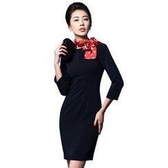 艾尚臣 - 七分袖連衣裙