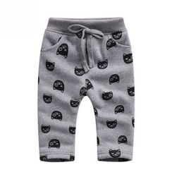 Endymion - Kids Cat Print Drawstring Pants