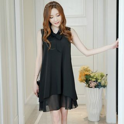 Nyssa - Tie-Neck Sleeveless Chiffon Dress