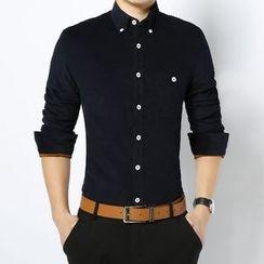 RUYA - Long-Sleeve Fleece-Lined Shirt