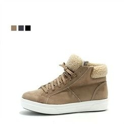 MODELSIS - Zip-Side Fleece-Lined Sneakers