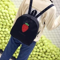 Seok - Strawberry Print Backpack