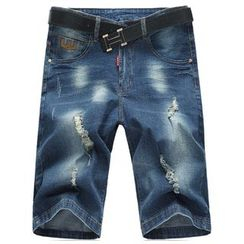 Riverland - Distressed Denim Shorts