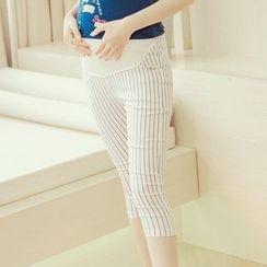 ENZA - Maternity Pinstriped Capri Pants