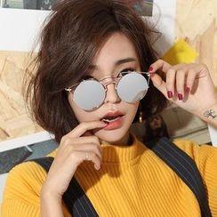 Biu Style - Metal Frame Round Sunglasses