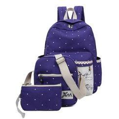 Jackpot Queen - Set: Dotted Backpack + Shoulder Bag + Pouch