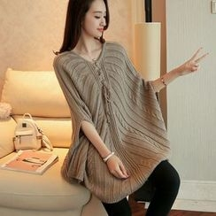 Bubbleknot - Elbow-Sleeve Long Sweater