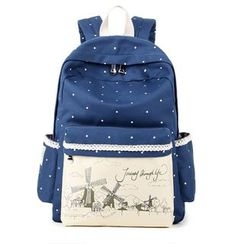 VIVA - Printed Panel Canvas Backpack
