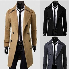 YamYork - Double-Breasted Trench Coat