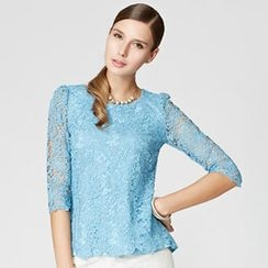 O.SA - 3/4-Sleeve Lace Top