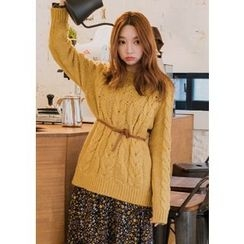Chlo.D.Manon - Crew-Neck Cable-Knit Sweater
