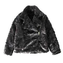 Ultra Modern - Furry Zip Biker Jacket