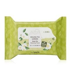 The Saem - Healing Tea Garden Green Tea Cleansing Tissue 20pcs