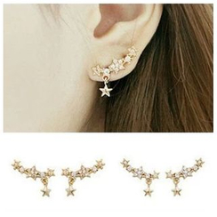Kulala - Star Rhinestone Stud Earrings