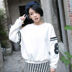 Tokyo Fashion - Fleece-Lined Printed Pullover