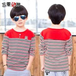 Lullaby - Kids Stripe Panel Long-Sleeve T-shirt
