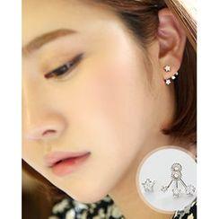 Miss21 Korea - Rhinestone Star Earrings