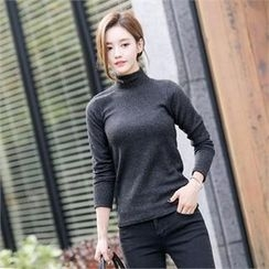 TOM & RABBIT - Mock-Neck Slim-Fit Top