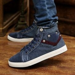 Rizmond - Denim Lace Up Sneakers