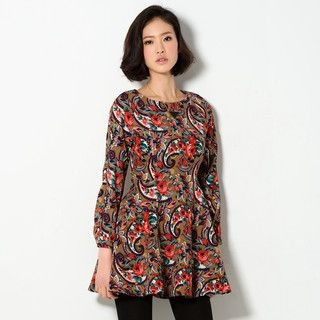 YesStyle Z - Mixed Print A-Line Dress