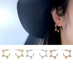 Clair Fashion - Rhinestone Swing Earrings