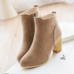 Yoflap - Stack Heel Ankle Boots