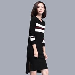 Sentubila - Striped Knit Dress