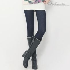 Stylementor - Fleece-Lined Denim Leggings