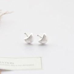 Love Generation - Rhinestone Mushroom Sterling Silver Earrings