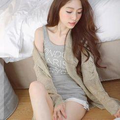 Tokyo Fashion - Scalloped-Trim Open-Knit Cardigan