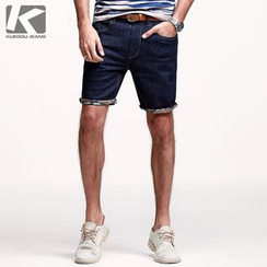 Quincy King - Roll-trim Denim Shorts