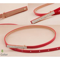 Goldenrod - Rhinestone Slim Belt