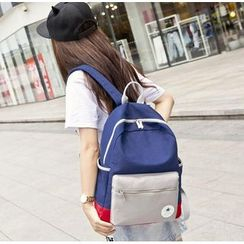 VIVA - Color Block Canvas Backpack