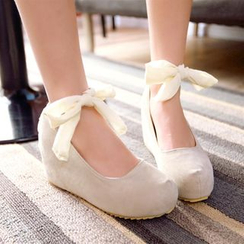 Pastel Pairs - Lace-Up Back Hidden Wedge Pumps