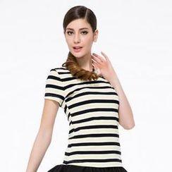 O.SA - Short-Sleeve Striped T-Shirt