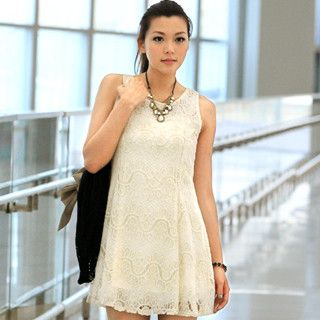 59 Seconds - Tie-Waist Lace Dress