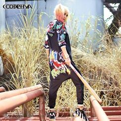 Cooreena - 连帽印花连衣裤
