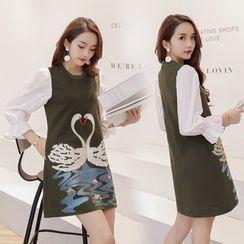 Romantica - Printed A-Line Dress