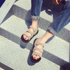 Kicko - Velcro Platform Sandals