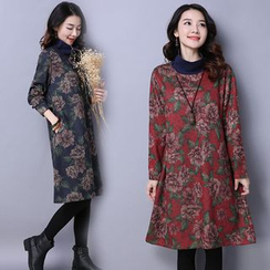 GLIT - Floral Print Long Sleeve Dress